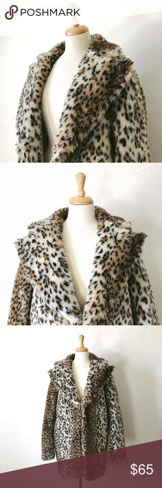 "Faux Leopard Print Coat Amazing faux leopard print coat! Super soft!  33"" long 27"" sleeves  Ships within 48 hours of purchase. Jackets & Coats"