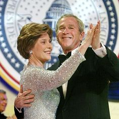 BIGGEST PARTY HOPPERS  President George Bush and the First Lady spent more time traveling than dancing Jan. 20, hitting 10 inaugural balls after he took his oath of office for a second time in Washington, D.C. In her Oscar de la Renta gown, Laura Bush