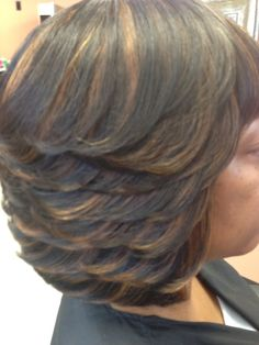 Color hair sew in