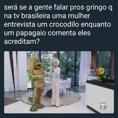 Cold it be that if we talk to gringos that on tv brazilian woman interview a crocodile while a parrot comments they believe? Memes Do Blackpink, Best Memes, Funny Images, Funny Pictures, Loud House Characters, Funny Comic Strips, Otaku Meme, Memes Status, Little Memes