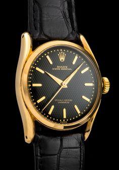 "Rolex ""The yellow gold Black Bombé ref. 6090"""