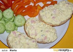 Dobrá pomazánka na chlebíčky recept - TopRecepty.cz No Salt Recipes, Snack Recipes, Cooking Recipes, Snacks, Czech Recipes, Ethnic Recipes, Hungarian Recipes, Cooking With Kids, Food 52