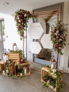 Copper or Gold Pipe Backdrop x - Inspired Hire Wedding Backdrop Design, Outdoor Wedding Decorations, Backdrop Decorations, Backdrops, Gold Backdrop, Hanging Decorations, Backdrop Stand, Wedding Signage, Wedding Seating