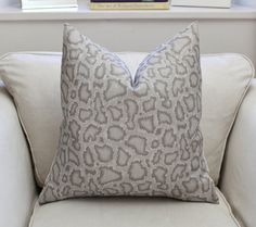 Feline by Kelly Wearstler in Beige/Ivory  Park Avenue Python by Mary McDonald for Schumacher in Dove    DESCRIPTION  Front - Mary McDonald Park
