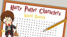 free printable harry potter characters Harry Potter Words, Harry Potter Theme, Harry Potter Pictures, Harry Potter Birthday, Harry Potter Characters, Activity Sheets For Kids, Printable Activities For Kids, Party Activities, Free Printables