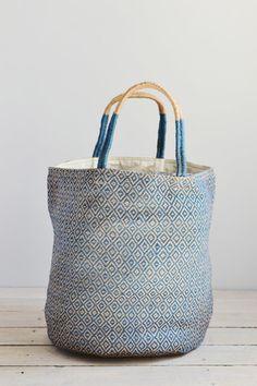 Jute bag: Grey diamonds | Decorator's Notebook