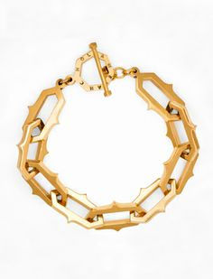 thorned hexagon bracelet #bracelet #melancholia #collar #gold // silver gold plated
