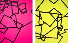 Title:Magenta and yellow double bin Diptic. Acrylic on paper. 2 pieces of 50 x 70 cm .Signed: Alfonso Cintado 2012. 900 $