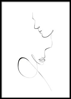 Line Art Couple Poster Line Art Design, Abstract Face Art, Abstract Lines, Art Drawings Sketches, Easy Drawings, Desenio Posters, Minimal Art, Tattoo Fineline, Linear Art