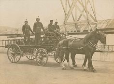 'Pride of Dunedin' Horse-drawn Fire Engine New Zealand Dunedin New Zealand, Auckland New Zealand, Nz History, Fire Horse, Fire Equipment, Vintage Horse, Fire Apparatus, Horse Drawn, Fire Dept