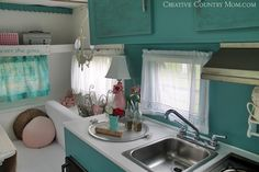 trailer, camper, glamper • Creative Country Mom's Garden: The Gypsy Pearl - A Vintage Camper Tour