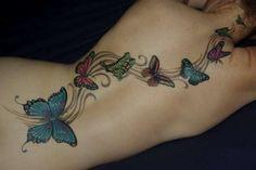 Kim's Butterflies tattoo
