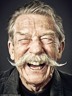 The greatest hits of the Royals' favourite photo agency, Camera Press - Photographer Andy Gotts shot John Hurt for 20 years. 'In this picture [taken in November ju - Face Drawing Reference, Human Reference, Photo Reference, Andy Gotts, Beard Cuts, Men Beard, Face Study, Old Faces, Face Photography