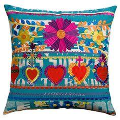 Mexico Hearts Pillow