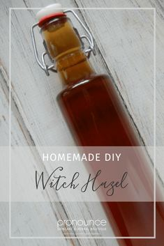 Homemade DIY Witch Hazel - Learn how to make your very own homemade DIY witch hazel extract with organic vodka, organic witch hazel bark, and filtered water. It's easier than you think, and is a great addition to your skincare routine! Pronounce Skincare & Herbal Boutique