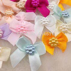 20pcs Mini Satin Ribbon Flowers Bows Gift Craft Wedding Decoration A262