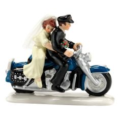Department 56 - Snow Village - #Harley® Ever After - Accessory  #Biker Bride and Groom
