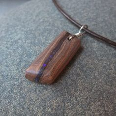 Boulder opal jewelry small unisex pendant by NaturesArtMelbourne, $47.00