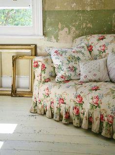 Rose chintz sofa