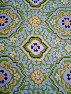 Yellow Green Blue. Love Love the colors and the pattern!