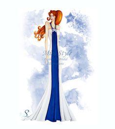 Cometa #FashionIllustration, #Sketch #star  #blue,fashion illustrator  disegnata a mano by @MissStyleCreazioni