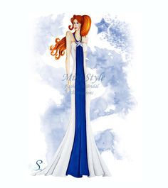 Cometa - Fashion Illustration, fashion illustrator by @MissStyleCreazioni ♥ ♥ ♥ ♥ ♥ ♥ www.etsy.com/shop/MissStyleCreazioni ♥ ♥ ♥ ♥ ♥ ♥