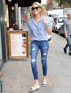 Happy and healthy: Made In Chelsea's Stephanie Pratt proved she has come a long way since her teenage years as she hit the shops in London on Friday after discussing her crystal meth addiction