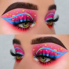 Star Makeup, Eye Makeup Art, Colorful Eye Makeup, Makeup Inspo, Eyeshadow Makeup, Makeup Inspiration, Eyeshadow Designs, Makeup Designs, Creative Makeup Looks