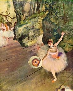 """Dancer with a Bouquet of Flowers"" Edgar Degas 