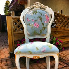 Laura Ashley fabric chair by halo-designs
