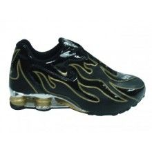 Nike Shox R4 Torch mens shoes black yellow silver