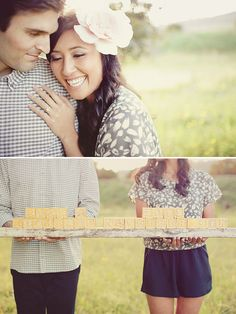 Cute Engagement Photos | Green Wedding Shoes Wedding Blog | Wedding Trends for Stylish + Creative Brides
