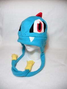 Pokemon Inspired Totodile Fleece Hat -MADE TO ORDER-
