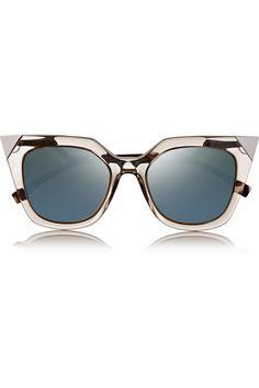 Fendi Embellished cat eye acetate mirrored sunglasses NET-A-PORTER.COM