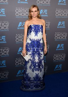 Diane Kruger in Naeem Khan. Photo: Alberto E. Rodriguez/Getty Images for A
