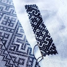 Quiet moments and focus when starting on a large embrodery Quiet Moments, Blackwork, Cross Stitch Embroidery, In This Moment, Accessories, Image, Instagram, Hardanger, Hands