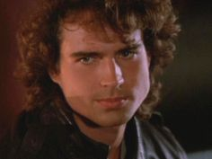 Another shot of Jason Patric as Michael Emerson in a Black leather flight bomber jacket in The Lost Boys Jason Patric, Billy Wirth, Hottest Guy Ever, Snap Out Of It, Hey Good Lookin, How To Look Handsome, Lost Boys, Attractive People, Man Crush