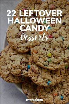 Instead of hauling all of your leftover Halloween candy to the office or hiding it in a drawer, transform it into amazing treats from epic drinks, to everything-but-the-kitchen-sink cookies, brownies, and more.#halloween #halloweenrecipes #myrecipes