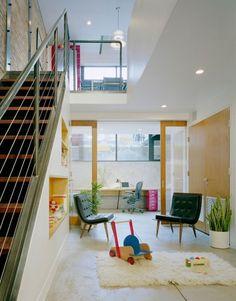 Boerum Hill House, Brooklyn - modern - living room - new york - Jordan Parnass Digital Architecture