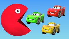 Learning Colors For Children With Pacman and Lightning McQueen Cars Trucks Toy Learn Colour For Kids