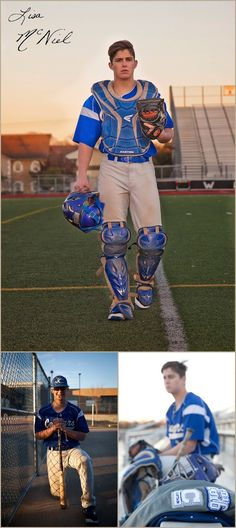 Senior Pictures of a Handsome Texas Baseball Catcher by Flower Mound…
