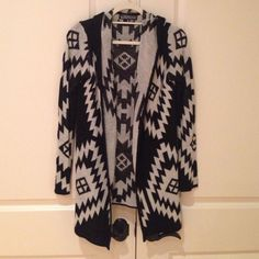 Almost Famous aztec sweater S good condition a few fuzzies Sweaters