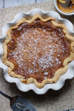 Salty Honey Pie via The Baker Chick Onto the Thanksgiving desserts list...