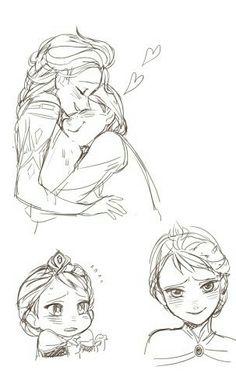 Elsanna ruined my life Disney Fun, Disney Magic, Disney Frozen, Frozen Drawings, Disney Drawings, Frozen Comics, Frozen Fan Art, Frozen Characters, Frozen Elsa And Anna