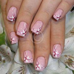 Flower Nail Designs, White Nail Designs, Nail Art Designs, Spring Nails, Summer Nails, Cute Nails, Pretty Nails, Mickey Mouse Nails, Luminous Nails