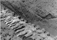 Victms of Mauthausen in a mass grave