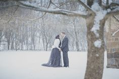 Couples planning snow-covered winter weddings, this one is for you. Eliška and Ondra were married in an old mountian house in the Czech Republic built in the middle of 19th century. Eliška wore a f…