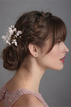 Braid+Flowers=A Hairstyle I could never figure out how to do! But so pretty!