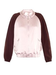 Bi-colour satin bomber jacket | MSGM | MATCHESFASHION.COM US