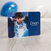 Fotokaart met blauwe band
